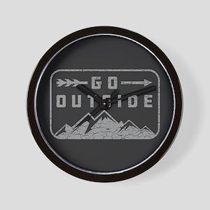 Go Outside Wall Clock