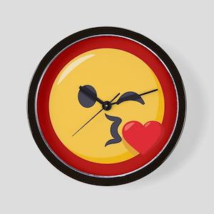 Kissing Emoji Wall Clock