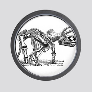Triceratops Skeleton Wall Clock