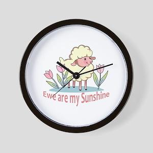 EWE ARE MY SUNSHINE Wall Clock