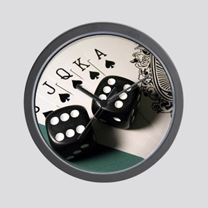 Cards And Dice Wall Clock