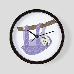 Tree Sloth Wall Clock