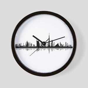 Dubai Skyline Cityscape Wall Clock