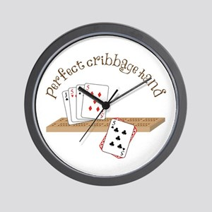 Perfect Cribbage Hand Wall Clock