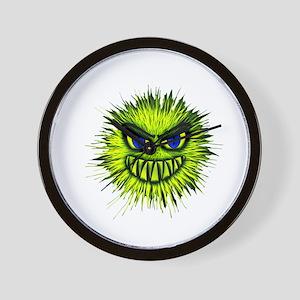 Green Spiky Monster Wall Clock