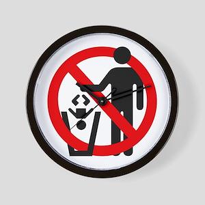 No Trashing Babies Wall Clock