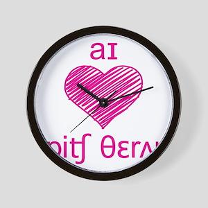 I heart Speech Therapy Wall Clock