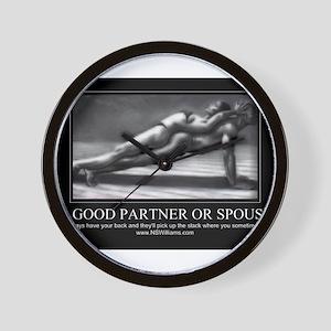 A good partner or spouse Wall Clock