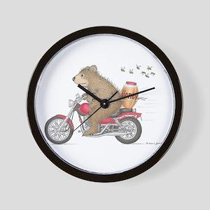 Honey on the Run Wall Clock