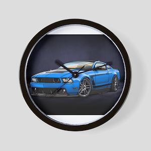 Boss 302 Grabber Blue Wall Clock