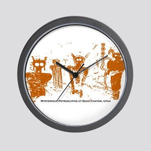 Sego Canyon Glyphs Wall Clock