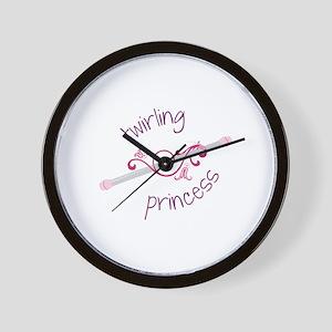 Twirling Princess Baton Wall Clock
