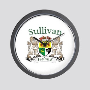 Sullivan Irish Coat of Arms Wall Clock