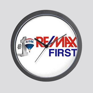 Remax_First_logo_stacked _balloon Wall Clock