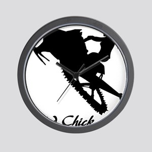 Sled Chick Wall Clock