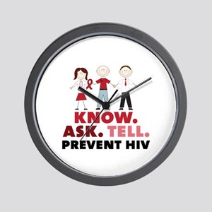 Know.Ask.Tell.Prevent HIV Wall Clock