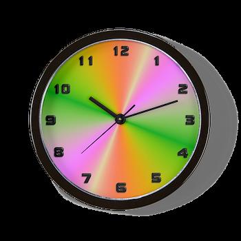 Funky Rainbow Wall Clock