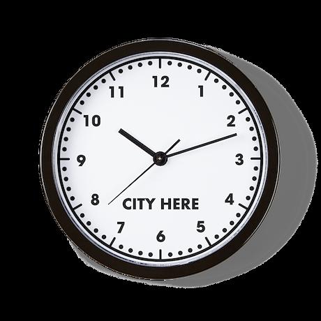 Blank City Here Wall Clock