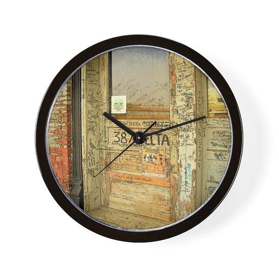 Ground Zero Delta Door Shower Curtain Wall Clock By Rebeccakorpita Cafepress