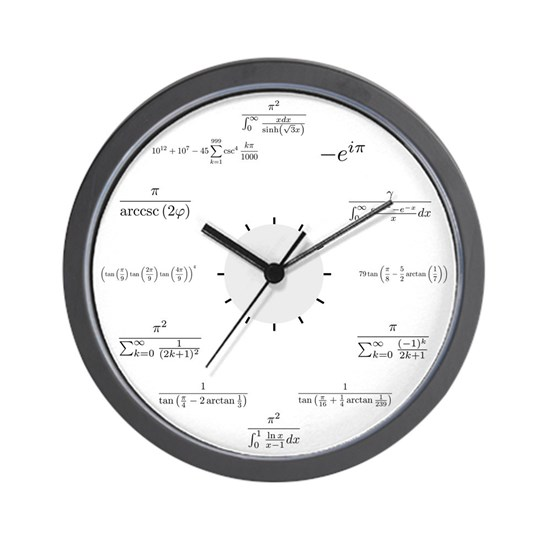 Math Clock (white background)