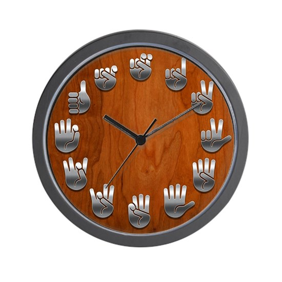 ASL Wood/Steel Clock
