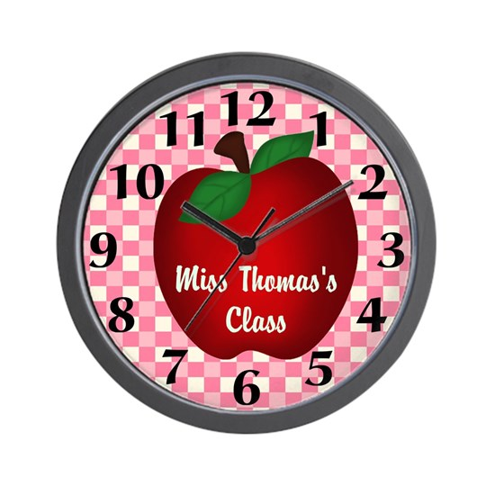 Personalized Apple Clock