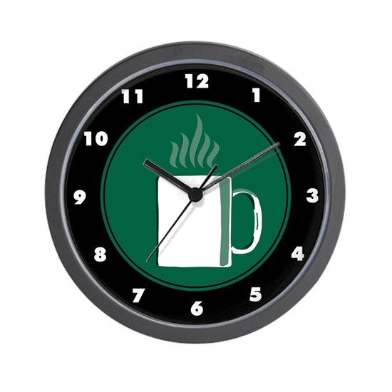 Coffee Themed Wall Clock