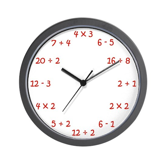 Elementary Wall Clock in Red