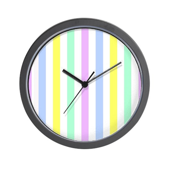 Easter Stripes purple yellow blue pink white