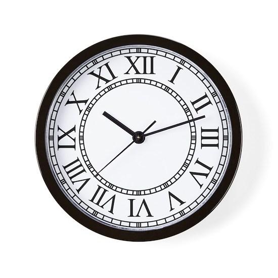 Roman Numeral Clock Face