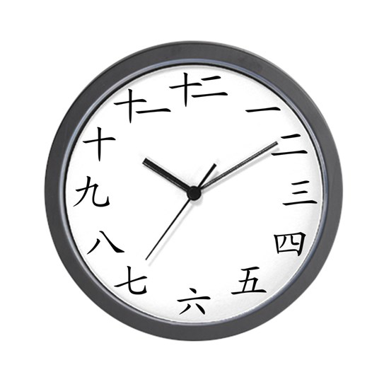 2-Chinese Modern Clock White
