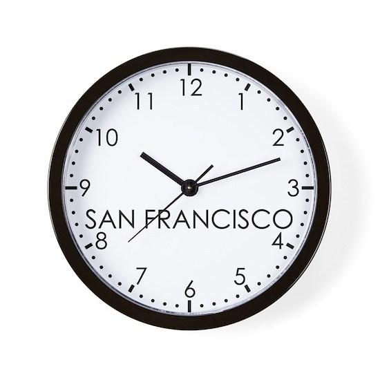 SAN FRANCISCO Newsroom Wall Clock