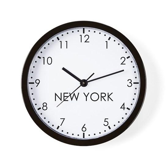 NEW YORK Newsroom Wall Clock