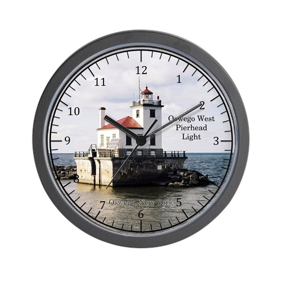 Oswego West Pierhead Light clock
