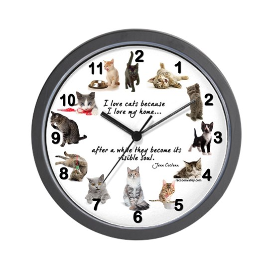 WALL CLOCK - Cat
