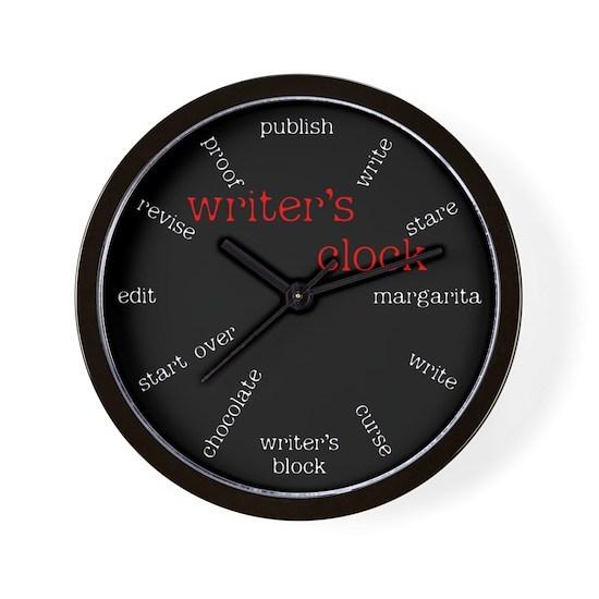 Writers Wall Clock
