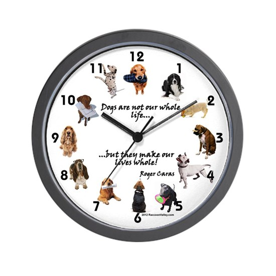 WALL CLOCK - Dogs