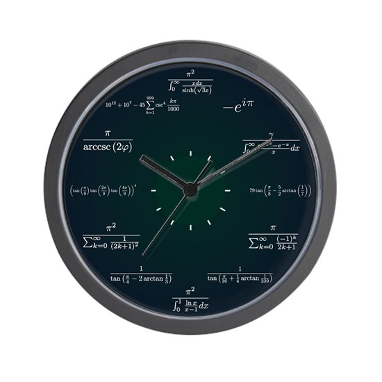 Math Clock (Dark Blue-Dark Green)