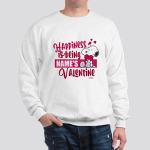 Snoopy Happiness is Being - Personalize Sweatshirt