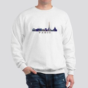 Mosaic Skyline of Paris France Sweatshirt