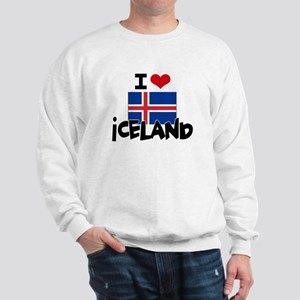 I HEART ICELAND FLAG Sweatshirt