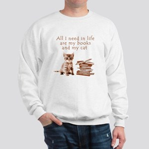 Cats and books Sweatshirt