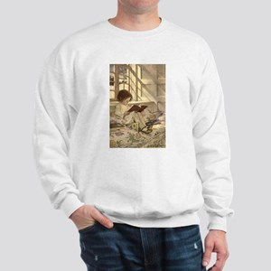 Vintage Books in Winter, Child Reading Sweatshirt