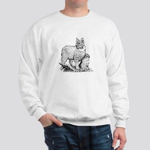 Bobcat (line art) Sweatshirt