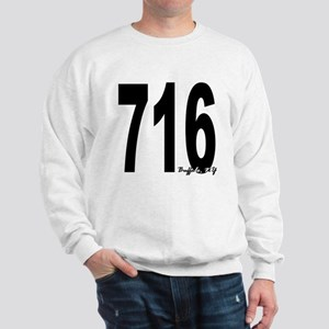 716 Buffalo Area Code Sweatshirt