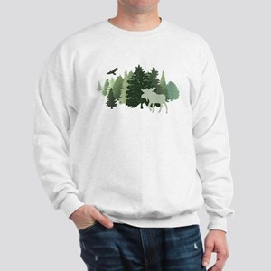 Moose in the Forest Sweatshirt
