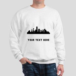 269458f58 Dallas Cityscape Skyline (Custom) Sweatshirt