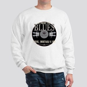 Blues Music on Black Sweatshirt