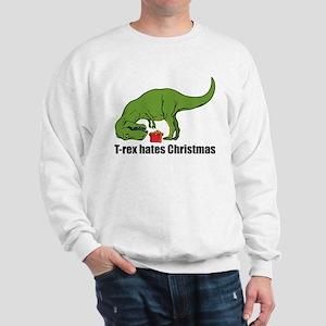 486e1e980 Funny T Rex Hates Christmas Sweatshirts & Hoodies - CafePress