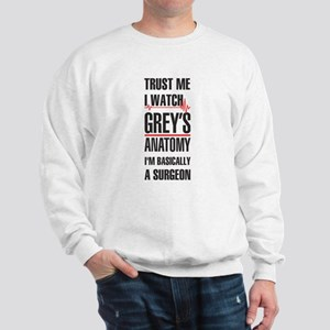Greys Anatomy trust me black Sweatshirt